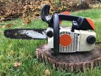 """Stihl 020T (older MS200T) Petrol chainsaw - 14"""" bar and chain - serviced"""