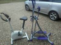 Exercise bike and air walker