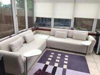 Cream sofa/couch with tables. Quick Sale, Must Go ASAP