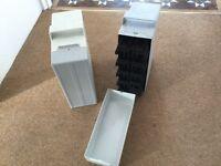 Two slide cases