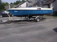 ETAP 20, sailing boat on trailer.