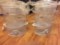 Electric 3 Tier / 6L Food Steamer Multi Cooker - Rice Vegetables Fish Chicken