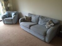 2 seater settee and chair