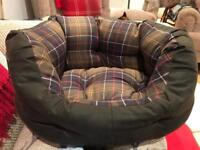 """Barbour Wax Cotton Dog Bed 18"""""""