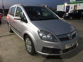 Vauxhall Zafira 1.6 i 16v Life 5dr - 7 Seater - Long MOT