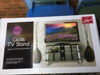 Glass tv stand new boxed