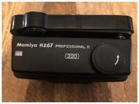 Mamiya RZ67 Pro II 220 back