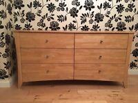 6 Drawer Oak Bedroom Unit