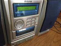 Cd/cassette/ radio mini hi-fi system
