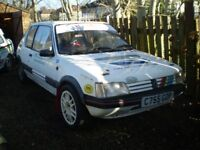 Peugeot 205 Gti rally car been rolled but runs Historic eligible