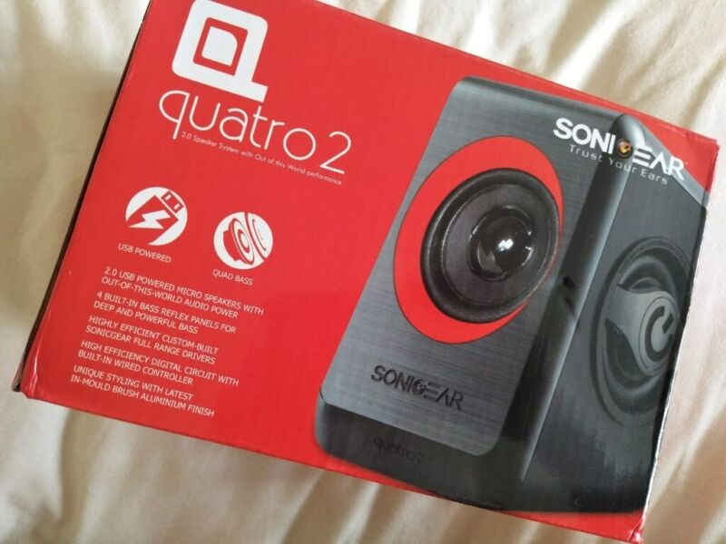 2.0 USB Powered Micro Speakers with Quad Bass , used for sale  Great Barr, Birmingham