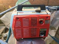 Small suit case generator e500 little used. Ideal for camper or caravan.