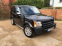 2007 07 LANDROVER DISCOVERY 3 2.7 TD V6 GS AUTO BLACK (101,000) 7 SEATS LEATHER - NEW MOT - PX?