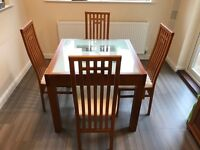 Sterling Furniture Cherry Extendable Dining Table & Four Chairs