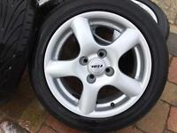 Silver Set of 15inch Alloys