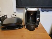 George Foreman grill and Bosch Tassimo Fidelia Hot Drinks Machine, T40 -