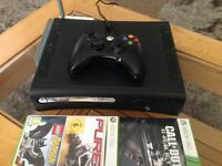 Xbox 360/Controller/Wireless/Hardrive/2 Games