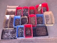 Job Lot Nuts & Bolts UNF UNC Whitworth ? Old Garage Stock Vintage Engines tractors Vehicles Ect