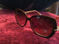 Ladies brown Chanel sunglasses
