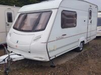 2003 Ace Jubilee Ambasador 2 Berth End Washroom Caravan with Awning and Roof Mounted Solar Panel