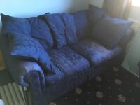 Blue Sofa Bed - complete and working, just needs a home!