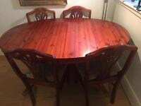 Vintage rosewood dining table and 4 chairs