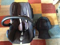 Maxi cosi cabriofix car seat and maxi cosi easy base