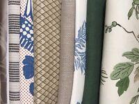 JOB LOT Luxury Designer Remnant Fabrics (9 pieces) BATTERSEA COLLECTION / MUST GO