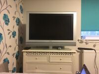 "32"" Phillips Cinoes TV with LED light, rotating stand, and remote. Never used but comes without box."