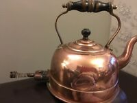 Vintage copper kettles