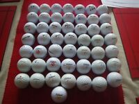 LOT OF 50 GOLF BALLS (TITLEIST + SRIXON) - IDEAL FOR PRACTISE. MONEY RAISED GOING TO CHARITY.