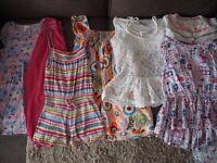 Bundle of girls Summer clothes Age 5-6 Marks & Spencer, George, Primark - 7 Items