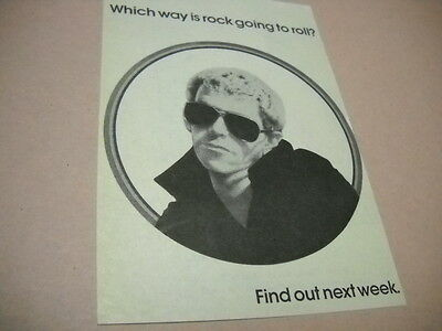 LOU REED Which way is rock going to roll Original 1974 music biz promo advert