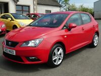 2014 Seat Ibiza 1.4 petrol toca with only 47000 miles, motd march 2022