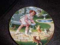 Fridays Child plate by Elaine Gignilliat, by Danbury Mint, limited edition