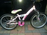 "GIRLS BIKE 20"" WHEELS 5-6YEARS +"