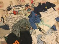 Bundle of boys baby clothes 3-6 months
