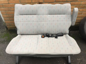 REAR DOUBLE SEAT T4 TRANSPORTER PLUS SEAT BELTS AND FIXINGS