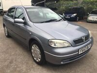 Vauxhall Astra LS 1.4i 16 Valve, 2003/53 Reg, 13 Month MOT, 5 Door Hatchback, Silver/Grey Metallic