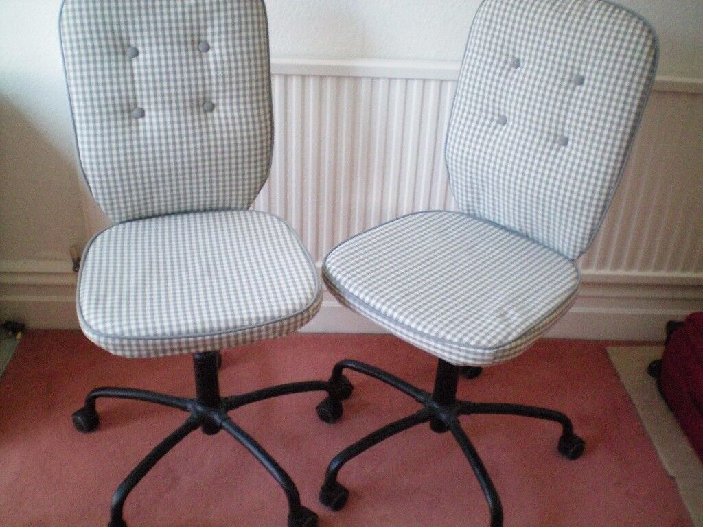 IKEA Lillhojden model pair matching swivel chairs, check finish, excellent condition, can separate.