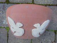 Terracotta White Doves Wall Planter.