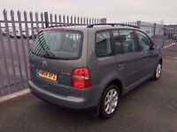 2005 Volkswagen Touran 1,9 litre diesel 5dr 7 seater automatic