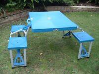 Folding Picnic / Camping Table & Stools