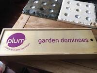 Plum wooden garden dominoes