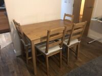 Ikea Dining Table and 4 Chairs.