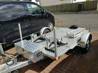 Twin motorcycle trailer