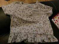Girls boys clothes 0-3 3-6 like new set vest pink trousers top