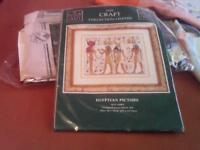 New counted cross stitch kit from the craft collection.Picture is called Egyptian Picture .