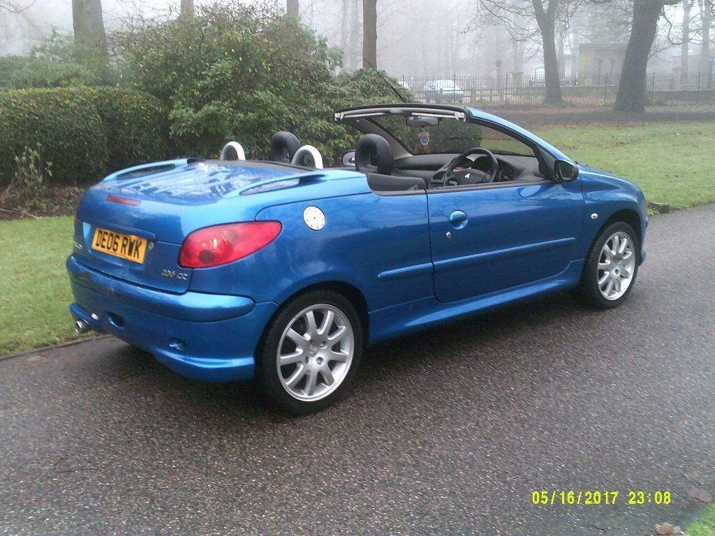 PEUGEOT 206CC 1.6 CONVERTIBLE NEW MOT 78,000 MILES OLD MOTS V/GOOD ...