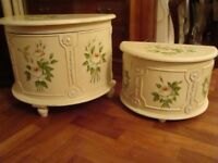 FRENCH STYLE STORAGE UNITS LARGE 1 22INCH WIDE 17INCH TALL 13INCH DEEP 1 18INCH WIDE 12INCH TALL